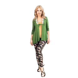 Women's Pajama (three-piece), consistent colors, with a unique modern design
