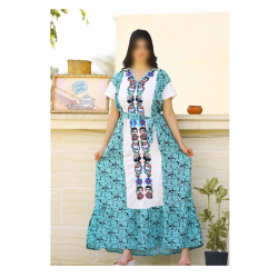 Jalabiya for women (multicolored) with a separate fabric belt