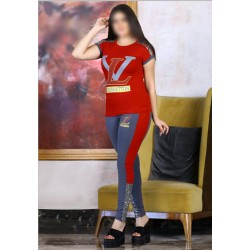 Women's pajama (multicolored) with a stunning modern design